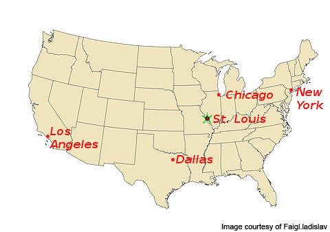 St Louis Map Of Us GEORaman 2014 (11th) in St Louis MO USA